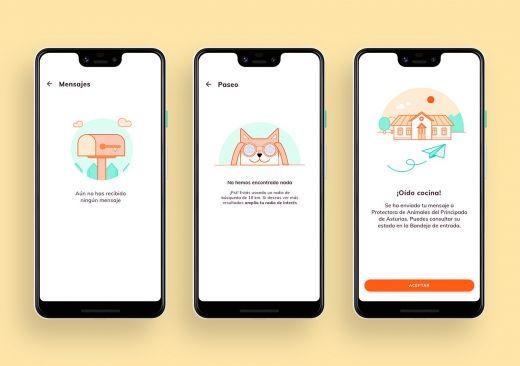 Ilustraciones en la App / Andrés González Menéndez
