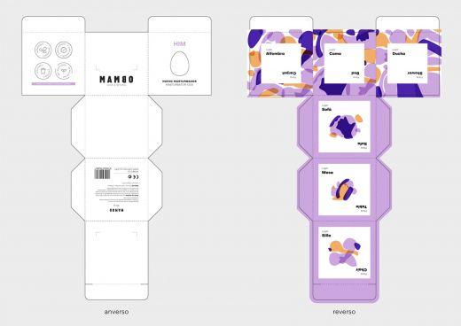 Desarrollo plano de una de las cajas / Raquel Blanco
