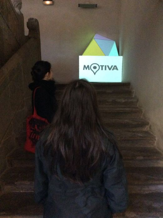 Videomapping en la escalera histórica del Palacio de Camposagrado