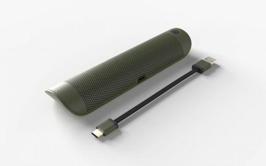 Altavoz junto a cable USB