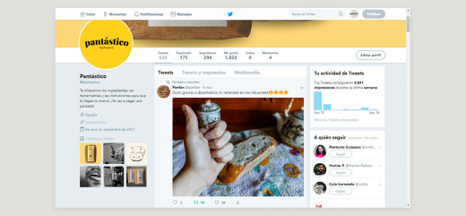 Twitter de la marca