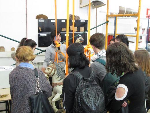 Visita al taller de Conservación y Restauración de Escultura