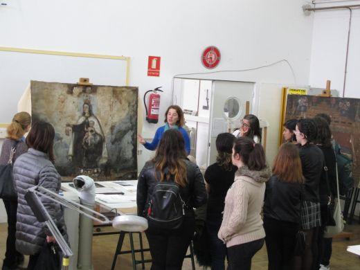 Visita al taller de Conservación y Restauración de Pintura