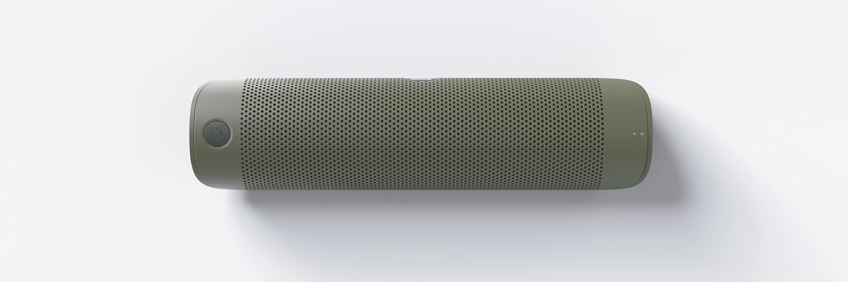 Vista frontal de una altavoz Bluetooth. Diseño de concepto de Carlos Llaneza