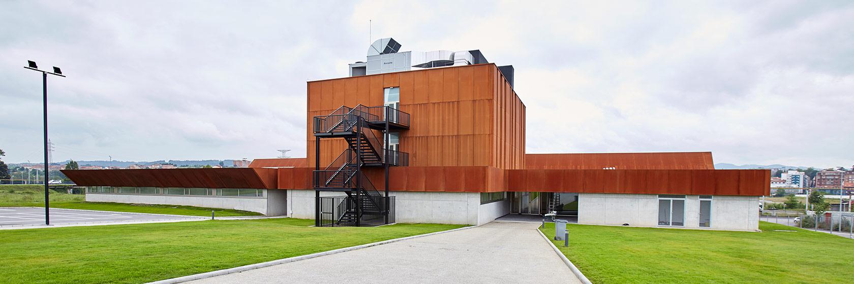 Vista de la nueva sede de la Escuela Superior de Arte del Principado de Asturias para los estudios de Conservación y Restauración de Bienes Culturales