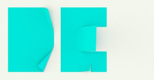 Letras DG de papel
