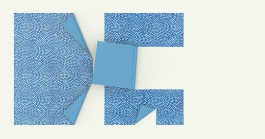 Dos papeles plegados formando las iniciales de Diseño Gráfico