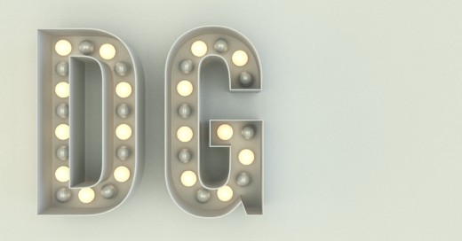 Letras DG luminosas