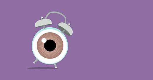 Ilustración de un despertador con un ojo por esfera Autor: Goyo Rodríguez