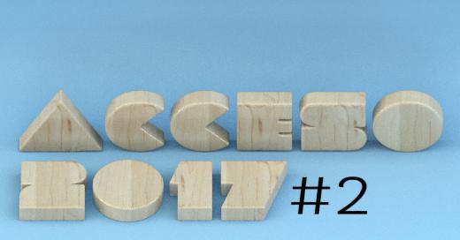 """Ilustración con el texto """"Acceso 2017"""" seguido por el número 2"""