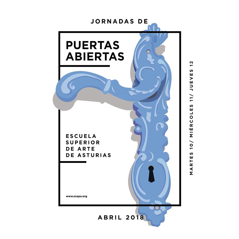 Ilustración de las Jornadas de Puertas Abiertas 2018. Gráfica de Alejandro Bueno, Marta Misas, Elena Sánchez y Alberto Trancón