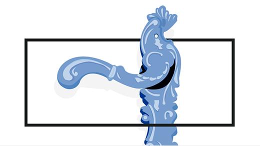 Ilustración de la manilla de una puerta. Gráfica de Alejandro Bueno, Marta Misas, Elena Sánchez y Alberto Trancón