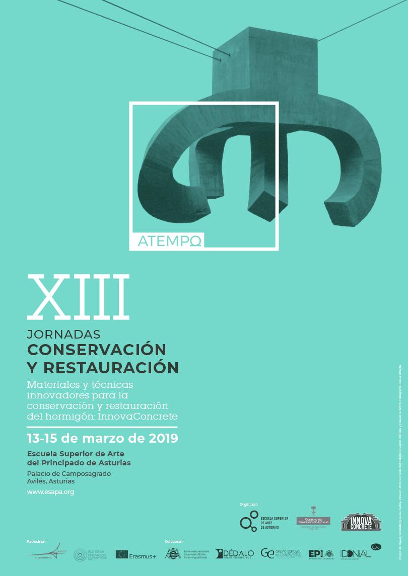 Cartel de las XIII Jornadas de Conservación y Restauración