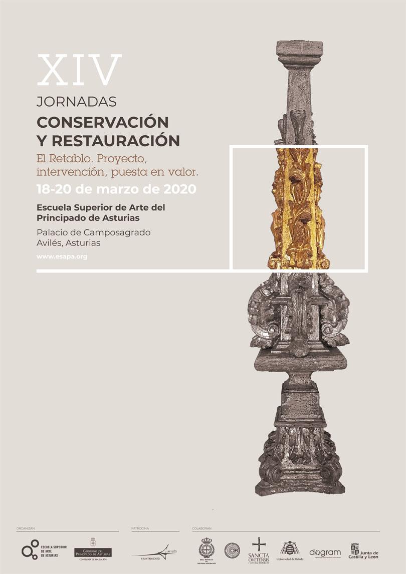 Cartel de las XIV Jornadas de Conservación y Restauración